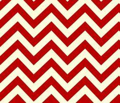 Red chevron fabric.