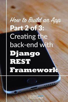 How to Build an App Django REST Framework