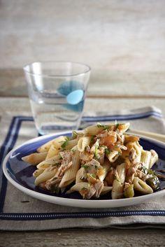 Greek Recipes, Fish Recipes, Pasta Recipes, Cooking Recipes, Healthy Recipes, Pasta Noodles, Pasta Dishes, I Foods, Pasta Salad