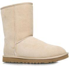 UGG Australia  Classic Short  Shoes ($145) ❤ liked on Polyvore featuring shoes, tan, tan shoes, ugg® australia shoes and ugg australia