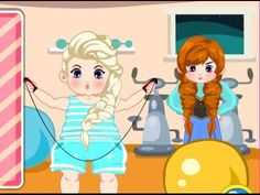 Lazy Elsa Lose Weight - Funny Frozen Slacking Games