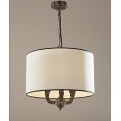 David Hunt VAL0363 Valerio 3 Light Traditional Ceiling Pendant Light With Shade Antique Brass Finish
