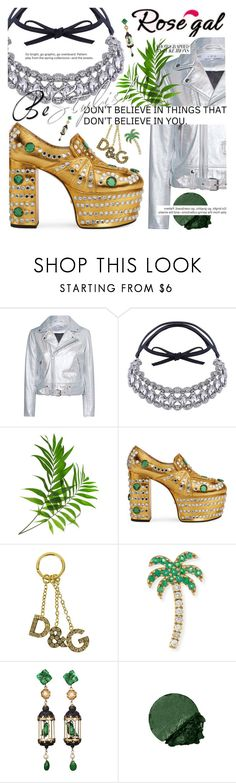"""""""Crystal Choker by rosegal.com"""" by cultofsharon ❤ liked on Polyvore featuring IRO, Gucci, Dolce&Gabbana, Sydney Evan, Of Rare Origin, contest, choker, contestentry and rosegal"""