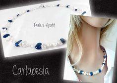 *PERLENkette* mit APATIT und 925er SILBER von Cartapesta auf DaWanda.com