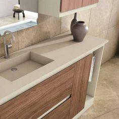 Encimeras de silestone en una pieza con el lavabo integrado: se hacen a medida, según necesidades, y con uno o dos lavabos. Espectacular diseño.