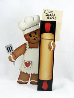 Pattern to paint the cute Gingerbread Chef by astrokeofjeanneius
