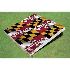 All American Tailgate Maryland State Flag Cornhole Board
