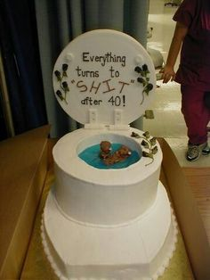 Hilarious 4oth birthday cake!!