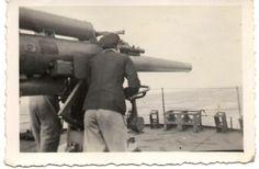 Gun practice at sea SS RADCOMBE WWII  ARMED MERCHANT VESSEL