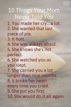 10 Things Your Mother Never Told You