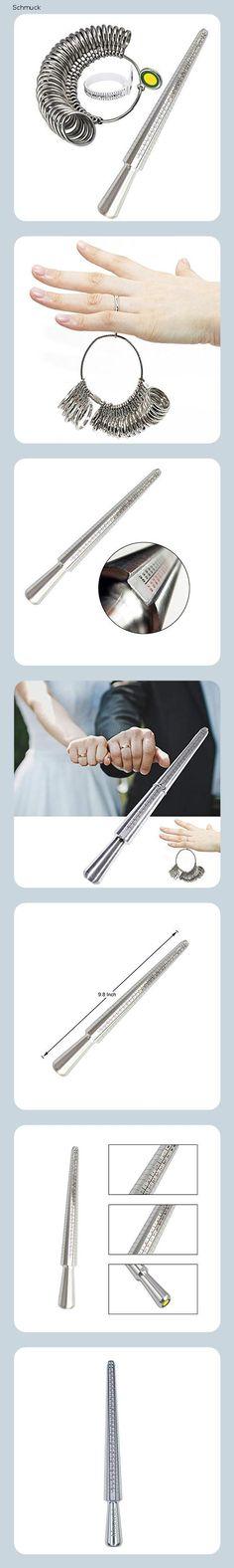Meowoo Ringstock Ringgrössenmesser Metall Oder Kunststoff Ringmaßband Ringmaß Ringmesser, Größenstandard UK, EU, USA, Schweiz(Metall Ringstock Set) - 14ec