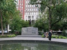 Madison Square Park & Vicinity - New York City, New York -Admiral David Farragut Monument by Augustus Saint-Gaudens & Stanford White
