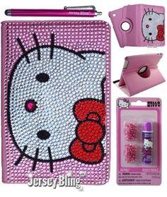 BLING! Kitty Ipad Mini Crystal & Rhinestone Leather Folio Case with Hello Kitty Gift Item (Pink Bling iPad Mini):Amazon:Computers & Accessories