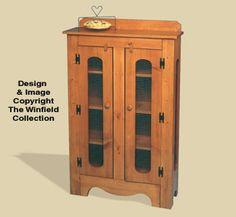 Winfield CC11 Pie Safe kitchen furniture craft wood pattern