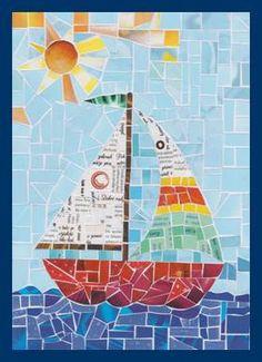 Plachetnice – papírová mozaika