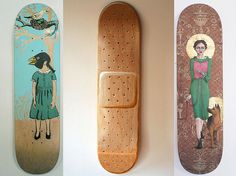 OMG!  That center skateboard is so me!  Everytime I got on a skateboard I needed a bandaid.  LOL!