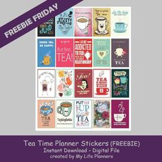 It's Friday! I decided to give credit to a beverage that sometimes gets forgotten. The English are famous for having it and it is a great beverage to drink hot or old. This week's Freebie Friday will feature Tea Time Planner Stickers. The crumpets and biscuits are up to you. These stickers will fit mostRead More