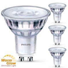 Philips 4er Set LED Leuchtmittel, dimmbar, GU10, 4,5 W...