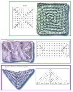 Best Ideas For Basket Bag Crochet Granny Squares Crochet Basket Pattern, Granny Square Crochet Pattern, Crochet Diagram, Crochet Stitches Patterns, Crochet Chart, Crochet Squares, Love Crochet, Crochet Granny, Crochet Motif