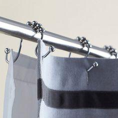 Double Roller Shower Curtain Hooks