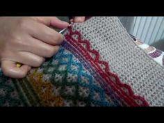 Ebru ile örgü saati(2) - YouTube Sashay Crochet, Plaid Crochet, Crochet Jacket, Crochet Cardigan, Crochet Shawl, Crochet Stitches, Crochet Patterns, Crochet Mandala, Crochet Flowers