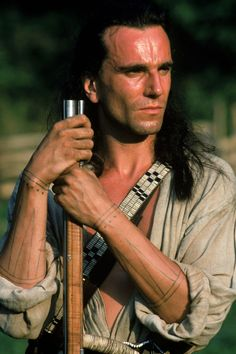 """Daniel Day-Lewis as Hawkeye in """"The Last of the Mohicans."""""""