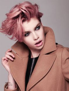 pink tipped short hair - Google Search