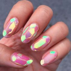 These Shattered Glass Nails Are The Latest Break-Out Trend In South Korea