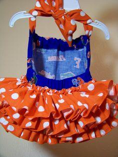 uf florida gators orange and blue baby ruffle bottom halter university of florida