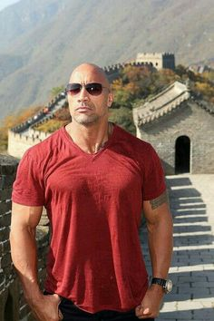 Dwayne Johnson at the Great Wall of China