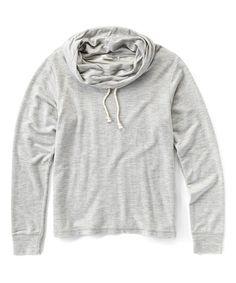 Love this Heather Gray Funnel Neck Sweatshirt - Men's Regular on #zulily! #zulilyfinds