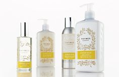 collection of fan-favorite fragrances from Thymes' past that have been made available once again. The collection includes bath & body and home fragrance products that feature a universal design complimented by a botanically-inspired motif. The system is simple and flexible enough to add new fragrances in the future.
