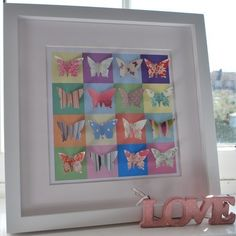 Fluttering Butterflies Picture - Large £65.00