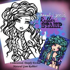 UM Rubber Stamp Vanessa Mermaid Hannah Lynn by hannahlynnart, 7.99