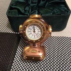 Bulova miniature #diving #helmet b0589 mini boutique #collectible clock,  View more on the LINK: http://www.zeppy.io/product/gb/2/262317190847/