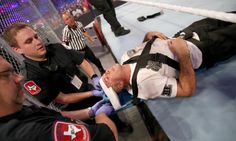 Shane McMahon appeared to be beaten up after his match against The Undertaker at WrestleMania Shane was taken off the board he was on and helped into a golf cart that took him off to receive medical attention. One… Der Undertaker, Wrestlemania 32, Worst Injuries, Shane Mcmahon, Dallas, Wwe Pay Per View, Wrestling News, Royal Rumble, Wwe News