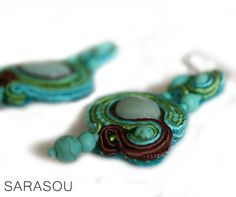 Summer time. #Sarasou #Basic #soutache #soutacheembriodery #dropearrings #summertime