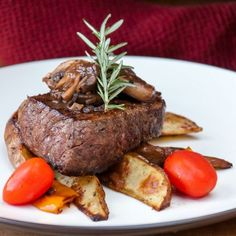 Seasoned, pan-seared, then finished in the oven, this method produces a caramelized, juicy and tender filet!