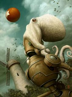 Octo robo action from Brian Despain. Two of my favourite things! <3