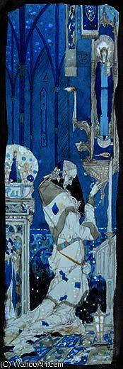 Numb were the Beadsman's Fingers by Harry Clarke (1889-1931, Ireland)