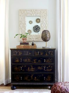 Perfectly styled dresser shot