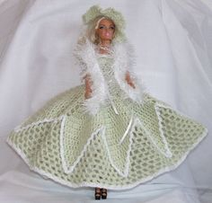 Gehaakte jurk, licht groen.