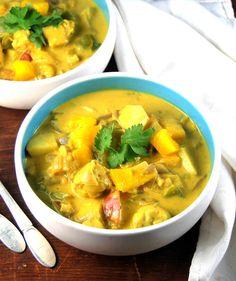 Vegan Jamaican Mango Stew with tempeh and thyme - holycowvegan.net