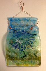 Custom made Fused Glass Lawn / Garden Art Fused Glass Jewelry, Fused Glass Art, Glass Vase, Glass Art Pictures, Glass Artwork, Panel Art, Garden Art, Clear Glass, Diy Crafts
