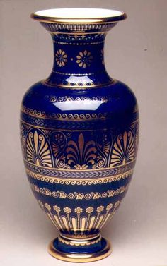 Lancelle vase without handles, rich platinum and gold decor, adolphe-Theodore-jean Briffault son 1869