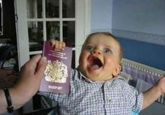 This baby discovering the joy of passports: