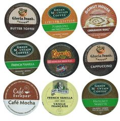18 Pack - Limited Edition Fall Flavors Coffee Variety Pack of K-Cups for Keurig Brewers - Pumpkin Spice, Butter Toffee, Cinnamon, French Vanilla, Mocha, Cappuccino and Hazelnut flavored- from Timothy's, Gloria Jeans, Donut House Collection, Van Houtte by Hound Dog Enterprises, LLC, http://www.amazon.com/dp/B005L8YXJ0/ref=cm_sw_r_pi_dp_0tEarb0KRZAS8