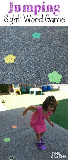 Jumping Sight Word Game - a fun way for kids to learn while moving. #ad #surpize @striderite