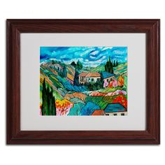 Valley House by Manor Shadian Matted Framed Painting Print