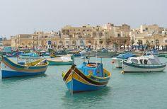Marsaxlokk Malta Fishing Village Market Fischerdorf
